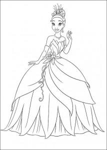 pagina da colorare Principessa e la rana (9)