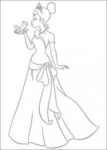pagina da colorare Principessa e la rana