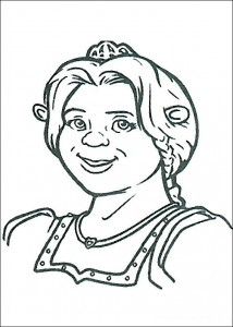 coloring page Princess Fiona as Ogre (1)