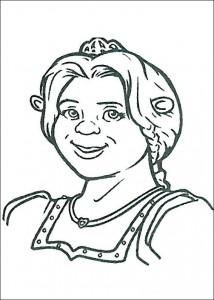 kleurplaat Prinses Fiona als Ogre (1)