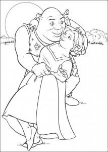 målarbok Prinsessan Fiona som Ogre