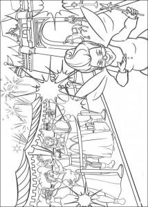 målarbok Princess Fiona och Prince Charming