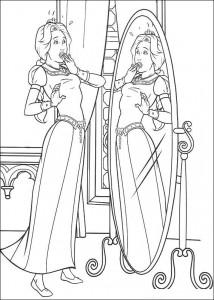 målarbok Princess Fiona
