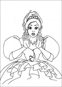coloring page Princess Giselle
