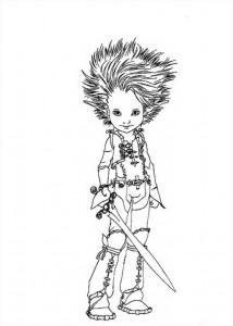 målarbok Princess Selenia