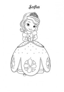 coloring page prinsesse sofia