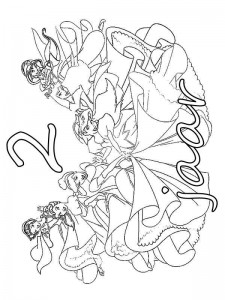 coloring page Princess birthday 2