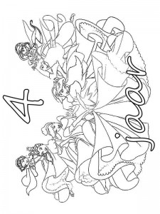 coloring page Princess birthday 4