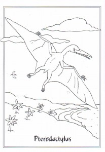 målarbok Pterodactyl