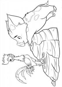 målarbok pua heihei 2