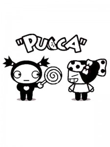 kleurplaat Pucca (5)