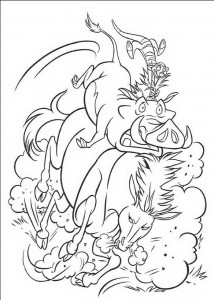 Pumba and Timon coloring page