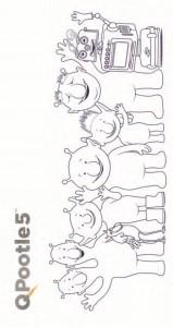 Dibujo para colorear Q-pootle 5 corredor
