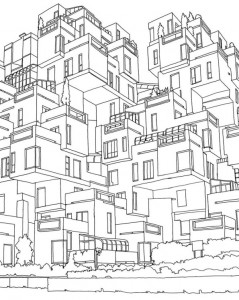 coloring page quebec