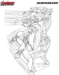 coloring page Quicksilver