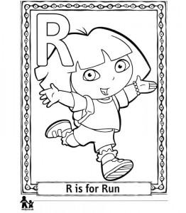 Dibujo para colorear R Run = Run