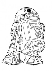 målarbok R2-D2