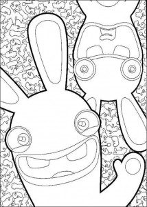 målarbok Rabbids Invasion (1)