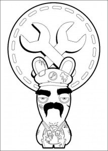 coloring page Rabbids Invasion (9)
