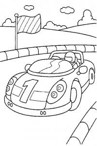 kleurplaat Racewagen (2)