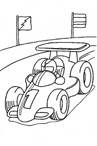 coloring page Racing car