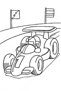 målarbok Racingbil