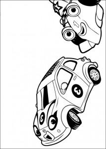 racing bil målarbok