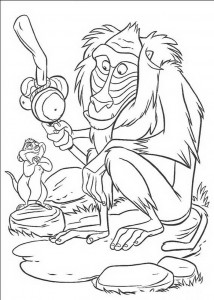 coloring page Rafiki and Timon's mom