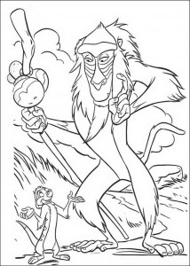 coloring page Rafiki talks to Timon