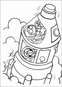 coloring page Rocket from Honeydew