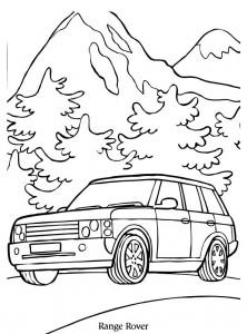 kleurplaat range rover