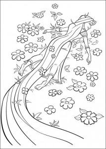 kleurplaat Rapunzel (13)