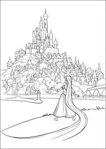 kleurplaat Rapunzel (17)