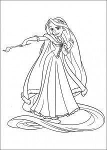 kleurplaat Rapunzel (2)