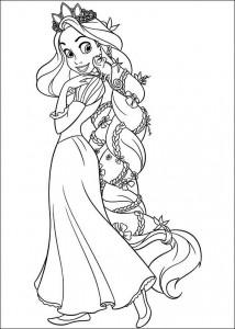 Malvorlage Rapunzel (3)