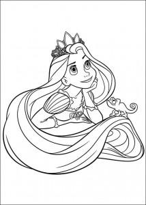 kleurplaat Rapunzel (4)