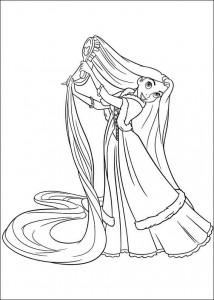 kleurplaat Rapunzel (5)