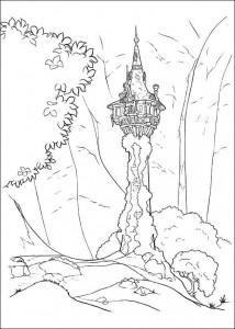 kleurplaat Rapunzel (8)
