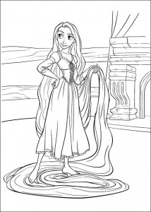 Malvorlage Rapunzel (9)
