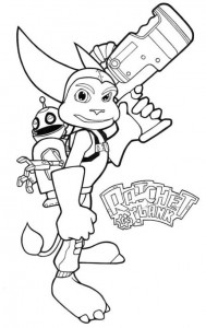 coloring page ratchet_and_clank