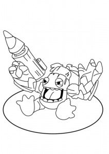 coloring page ratchet clank 2