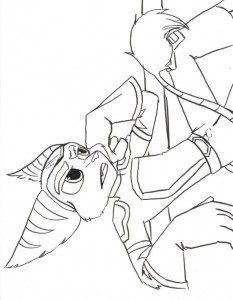 ratchet coloring page