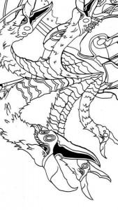 раскраска raveleijn драконикон