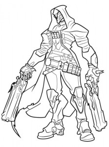 coloring page reaper