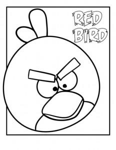 målarbok röd fågel