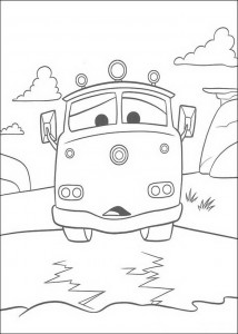 coloring page Red, the fire engine