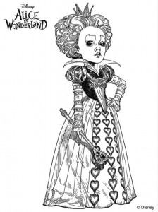 målarbok röd drottning 2