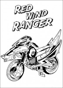 coloring page Red wind ranger