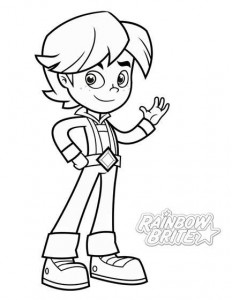 coloring page RedButler