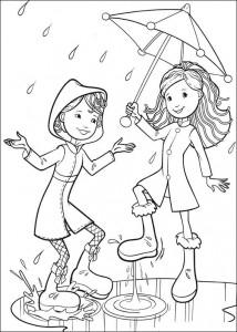 målarbok Regn
